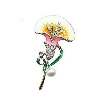 Panie Broszka Mak Kwiat Corsage Retro Biżuteria Broszka Pin