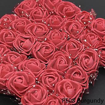 Mini Pe Ruusu pää keinotekoinen silkki kukat häät morsian kimppu dec