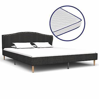 vidaXL sänky muistivaahtopatja tummanharmaa kangas 180×200 cm