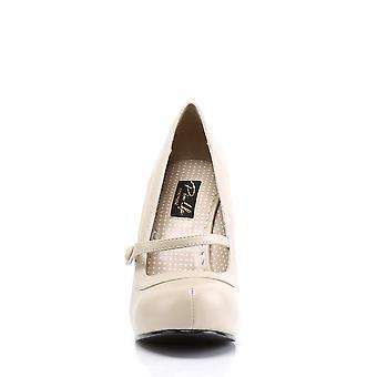 Pin Women's Shoes Up Cream Pu