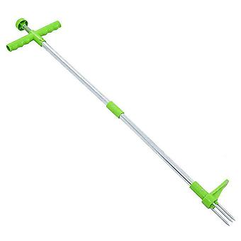 Swotgdoby Stand Up Manual Weed Puller, Long Handle Garden Tool With 3 Claws
