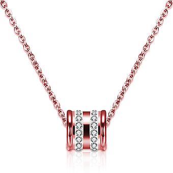 Loop Hänge & Örhänge Set Insvept med kristaller från Swarovski Rose - 2 Pack