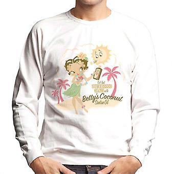 Betty Boop Bettys Coconut Suntan Oil Men's Sweatshirt
