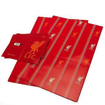 Liverpool FC Pinstripe omslag pappersark (paket med 2)