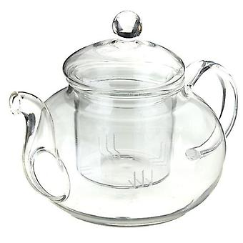 Heat Resistant Glass Teapot With Infuser Coffee Tea Leaf