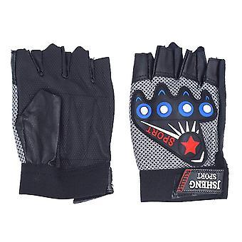 Fingerlösa handskar med runda nitar