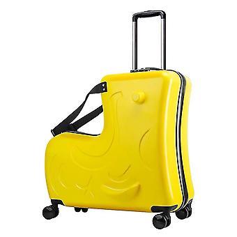 Children Rolling Luggage Spinner Wheels Suitcase Kids Cabin Trolley Travel Bag