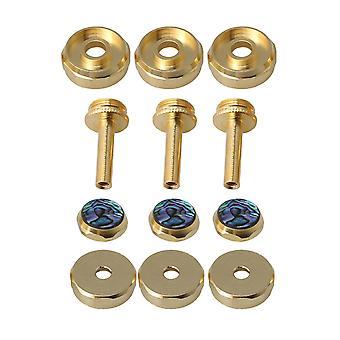 Blechblasinstrumente Ersatzteile 3 Packungen Trompeten Fingerknöpfe Abalone Schale Pleuelstangen Ventilkappen