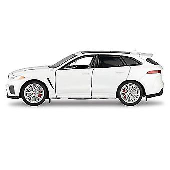 Toy cars 1:32 jaguar f pace suv alloy car toy white