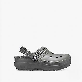 Crocs Classic Lined Kids Clogs Slate Grey/smoke