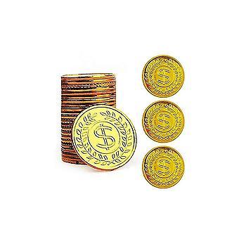 Pirate Gold Coins Plastic Set Of 100 Treasure Hunt Game