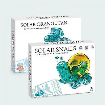 Energia Solar Pequeno Caracol Orangotango Brinquedo Ciência e Educação Crianças'S Intelligence Assembly