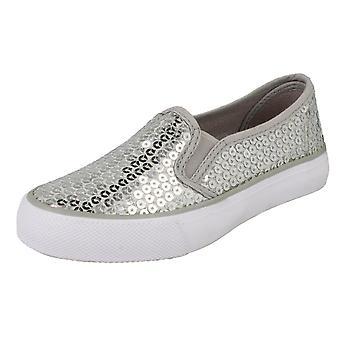 בנות ספוט על שטוח להחליק על הנעליים H2365