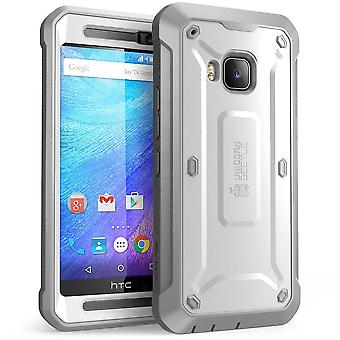 HTC One M9 kast, SUPCASE, Unicorn kever Pro Series - wit/grijs