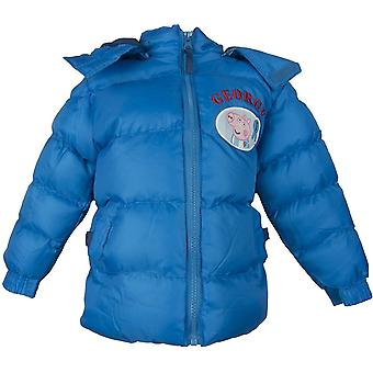Boys George Peppa Pig Hooded Winter Jacket