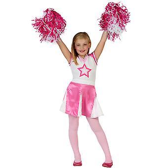 Kinder Kostüme Mädchen Cheerleader Kostüm Kind 5-6 Jahre
