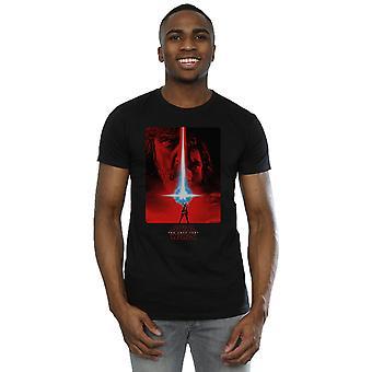 Star Wars mężczyzn ostatni T-Shirt plakat Jedi czerwony