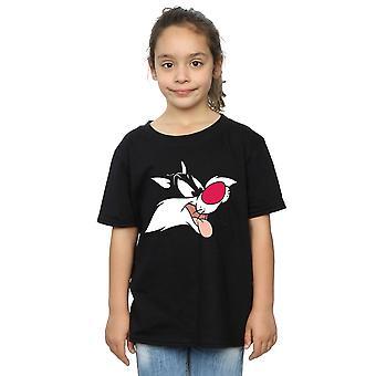 Looney Tunes meisjes Sylvester gezicht T-Shirt