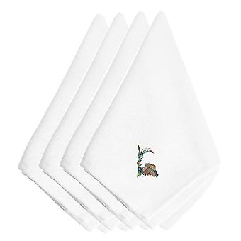 Carolines Treasures  EMBT3014NPKE Fall Old Wagon Embroidered Napkins Set of 4