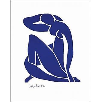 アンリ ・ マティス (22 × 28) 青いヌード ポスター印刷