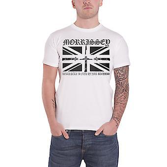 Morrissey T Shirt Flick Knife World Peace Logo Official Mens New White