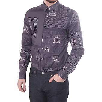 PS Paul Smith Slim Fit Shirt With Desert Print