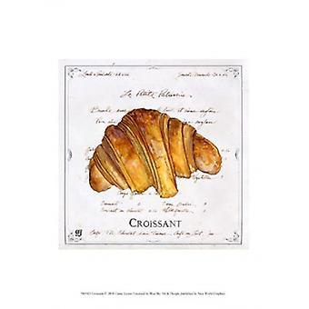 Croissant Poster trykk av Gulla Joyner (10 x 13)