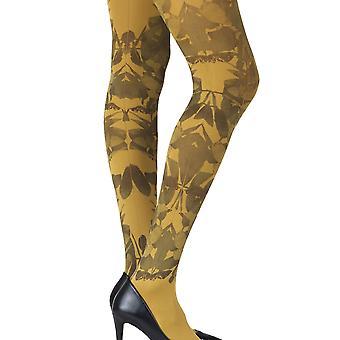 Zohara ZOF405-MB Women's Don't Leave Me Mustard Yellow Fashion Tights