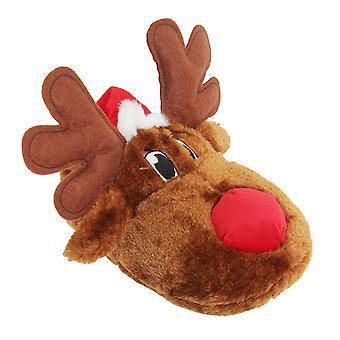 Voksne Unisex Christmas Reindeer Design nyhet tøfler