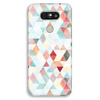 LG G5 volledige Case - gekleurde driehoeken pastel afdrukken