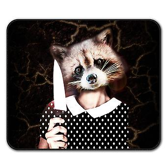 Raccoon Girl Sweet  Non-Slip Mouse Mat Pad 24cm x 20cm | Wellcoda