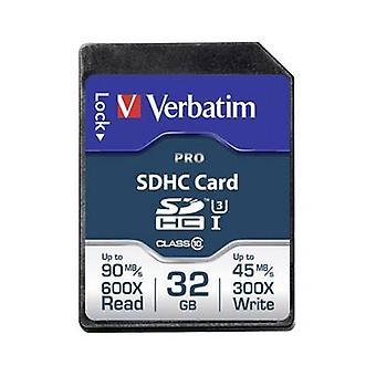 Verbatimin PRO SDHC-kortti 32 GB Class 10 UHS-I, luokka 10