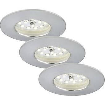 Briloner 7231-039 LED Einbauleuchten leichte 3-teilige Set EEC: LED (A++ - E) 16,5 W Warm Weiss Aluminium