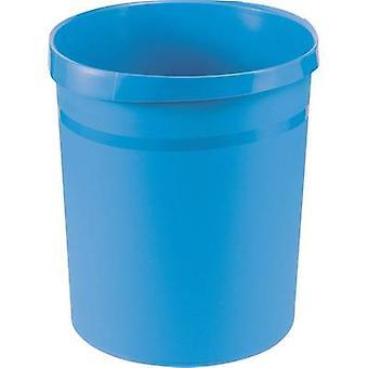 HAN Grip Waste paper basket 18 l Polypropylene (Ø x H) 312 mm x 350 mm Light blue 1 pc(s)