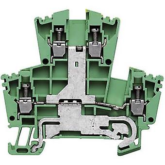 Double-level protective conductor terminal blocks - WDK WDK 2.5PE 1036300000-1 Green, Yellow Weidmüller 1 pc(s)