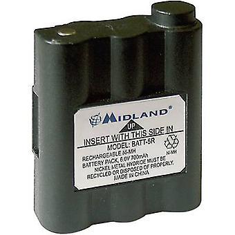 Midland vervangt originele batterij PB-ATL/G7 walkie-talkie batterij 6 V 700 mAh