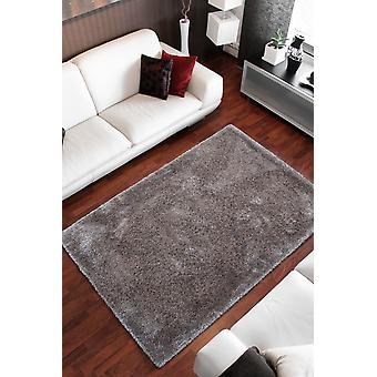Rug Shaggy Rugs Fluffy Cozy Gloss Silver Grey