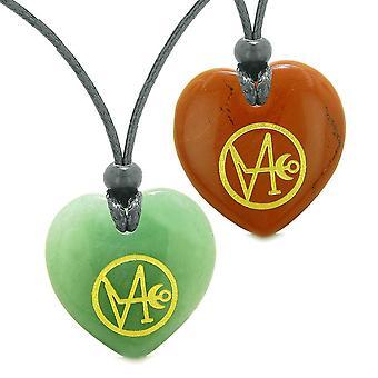 Erzengel Gabriel Sigil Amulette lieben Paare oder beste Freunde gesetzt Halsketten