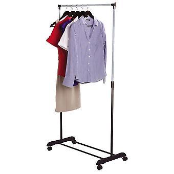 Doppia vestiti Rail regolabile Coat Rack armadio portatile appeso Stand deposito