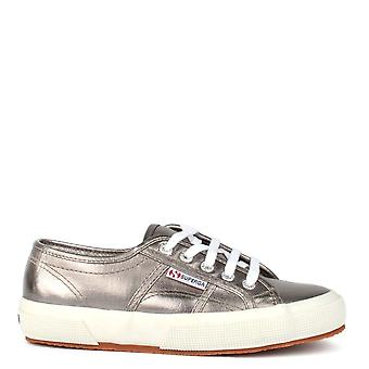 Superga 2750 Cotmetu Metallic Grey Cotton Trainer