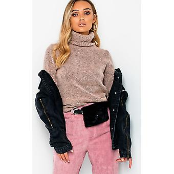 IKRUSH Womens Evie fuskpäls bälte handväska