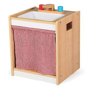Lavandino in legno Toddler Tidlo fingere Roleplay cucina accessori