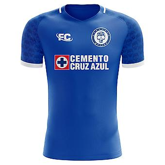 2018-2019 Cruz Azul Fans Culture Home Concept Shirt - Kids