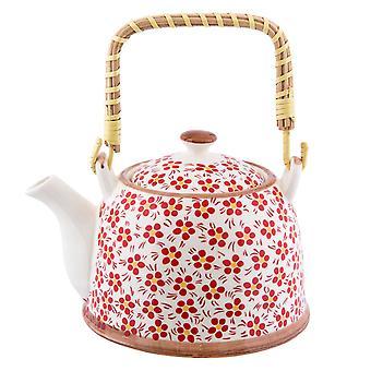 Clayre & EEF romantic teapot cottage shabby florals approx. Ø 14 x 14 cm