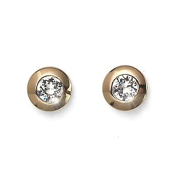 Oliver Weber Post Earring Diamond Gold Crystal