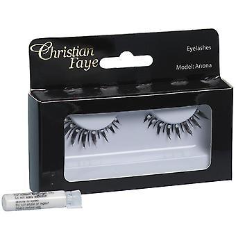 Christian Faye Eyelashes Evening With Glue
