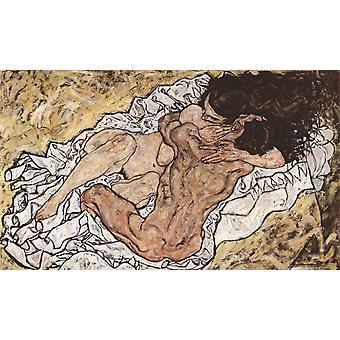 Omhelzing, Egon Schiele, 60x40cm
