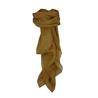 Maulbeer Seide Hand gefärbt Ocker Quadrat Schal aus Pashmina & Seide