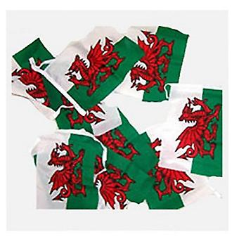 Wales flag bunting, Fabric 9m / 30 flags New