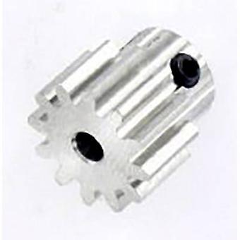 Reely Steel tandwiel module type: 1,0 diameter van de boring: 3,2 mm Nee. aantal tanden: 12